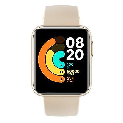 """Xiaomi Mi Watch LITE Orologio Smart, Display LCD TFT 1.4"""", Fino a 9 Giorni di Autonomia con una Ricarica, GPS integrato, Monitora 11 Tipologie di Sport, Avorio, Versione Italiana"""