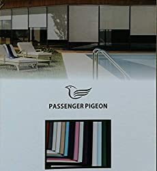 PASSENGER PIGEON Cordless Thermal Insulated 100% Blackout Waterproof Fabric Custom Window Window Roller Shades Blinds