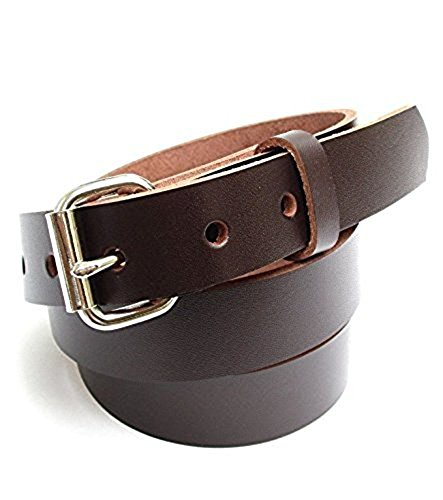 (Mens Heavy Duty Dark Chocolate Brown Leather Belt 1
