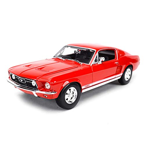 HTDZDX Alloy Car Model 1:18 Scale Ford Mustang 1967 Car Diecast Model Kit,Collection Christmas New Gift (Color : Red) ()
