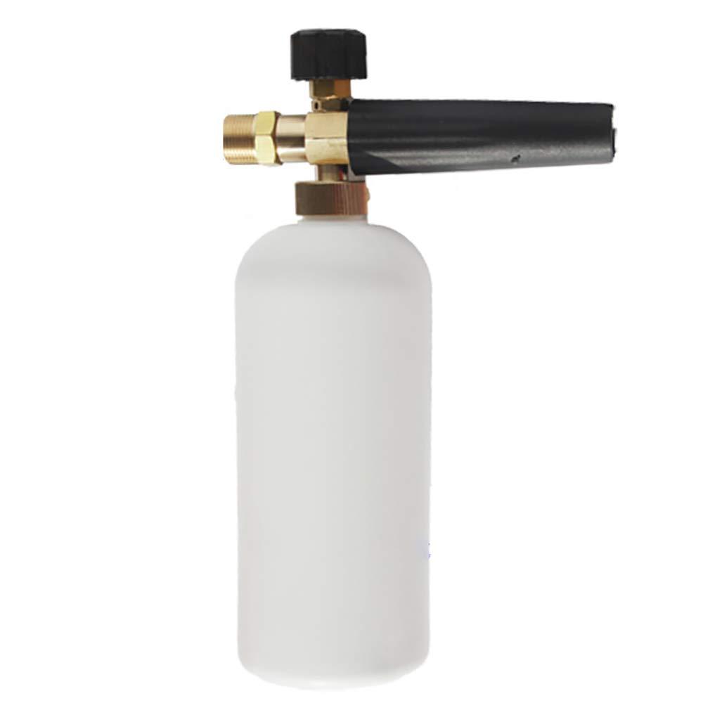 Pevor Garden Water Gun Pressure Snow Foam Jet Nozzle & 1L Bottle Car Washer Adjustable Lance Soap Spray 1/4''