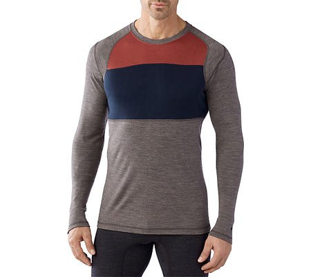 Smartwool NTS Mid 250 Color Block Crew - Men's Taupe Heat...