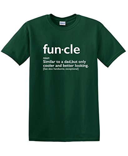 - Funcle Uncle Gift Idea Novelty Graphic Humor Sarcastic Cool Very Funny T Shirt L Forest