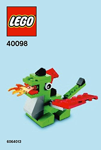 Amazon Lego Mini Model Dragon Parts Instructions Kit 40098