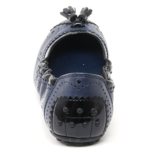 Tod's Scarpa Donna Nappine Ballerina B4449 Woman Shoe Bucature Blu nero HnrHP1