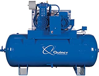 product image for Quincy QT-10 Splash Lubricated Reciprocating Air Compressor with MAX Package - 10 HP, 460 Volt, 3 Phase, 120 Gallon Horizontal, Model Number P2103DS12HCB46M