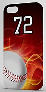 Basketball Sports Fan Player Number 72 Snap On Flexible Decorative iphone 5s Case
