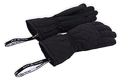 Womens Winter Snow & Ski Gloves - Designed for Women's Skiing, Snowboarding, Shredding, Shoveling, Snowballs - Waterproof, Windproof Nylon Shell, Thermal Insulation & Synthetic Leather Palm