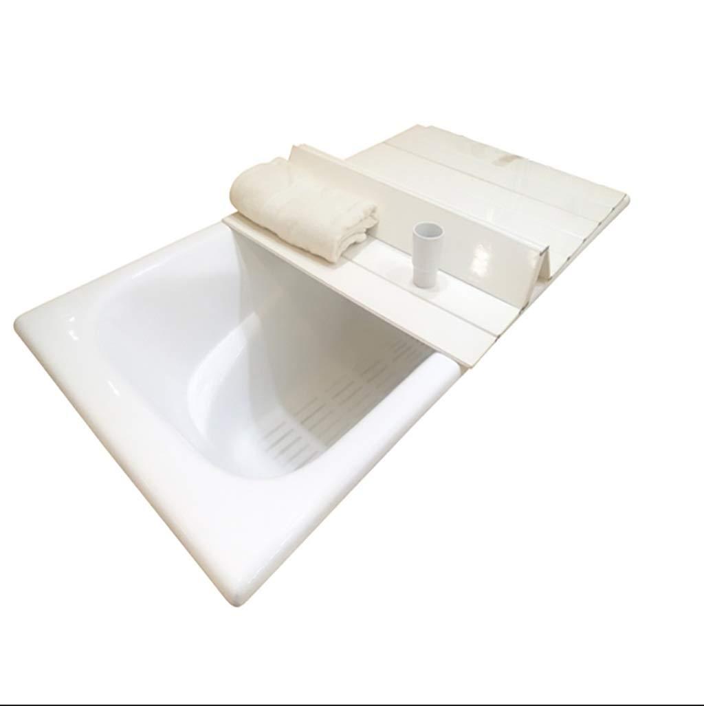 GJath Bathtub Trays Bathtub Stand, Plastic Folding Bath Cover/Bath Bathtub dustproof Shelf (Size : L:170W:80cm)
