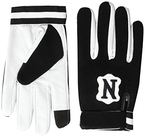 Adams USA Neumann Touchscreen Cold Weather Coach/Referee Gloves Black/White, Large