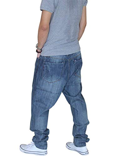 Gamba Jeans Harem Denim Aderenti lannister Ragazzo Casual Dritta Blau Larghi A Vintage Qk Pantaloni Uomo vURFq