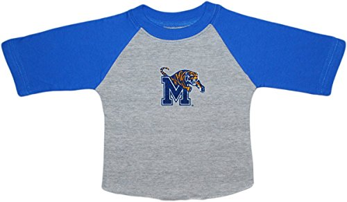 University of Memphis Tigers Baby and Toddler 2-Tone Raglan Baseball Shirt