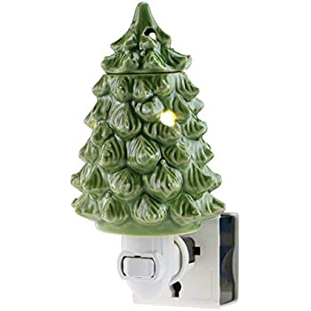 STAR MOON Pluggable Fragrance Warmer Wax Melter for Christmas Decoration Home/Dorm/Office No Flame No Smoke No Soot Packaged Together with Two Bulbs - Lovely Christmas Tree