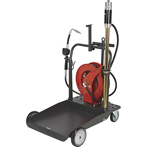 Ironton Air-Operated 5:1 Oil Pump Kit - with Cart and Hose Reel, 3.7 GPM