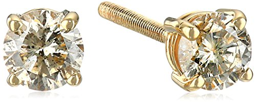 Certified-14k-White-Gold-Diamond-with-Screw-Back-and-Post-Stud-Earrings-J-K-Color-I1-I2-Clarity