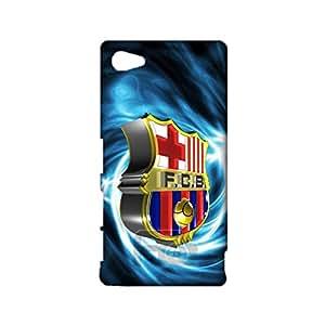3D Barcelona Logo Phone Case for Sony Xperia Z5 Compact , Sony Xperia Z5 Compact 3D FC Barcelona Logo Cover Case Primera Division De Liga Unqiue Design