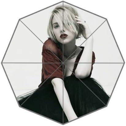 Amazon Com Colors Of Rainbow Rainbowrain Scarlett Johansson Picture Custom Foldable Umbrella 01 Jardin Y Exteriores