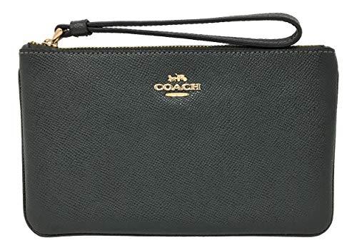 Coach Crossgrain Leather Large Wristlet Ivy F57465