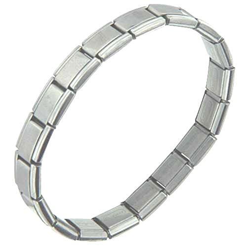 Pugster Stainless Steel Starter Italian Charms 18 Links Bracelet