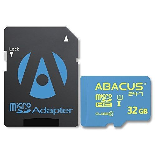 Abacus24-7 32 GB Micro SD Memory Card for BLU Advance 5.0 HD, Life Max, One X2, Vivo 5R, Air, Studio G Plus, C, M HD, 6.0, X8 and XL 2, Dash X2 and JR, Energy X 2, Neo XL, R1 HD, Pure XR, Selfie 2