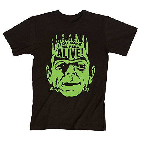 Instant Message You Make Me Feel Alive Frankenstein Halloween Costume Scary Cool Men's T-Shirt -