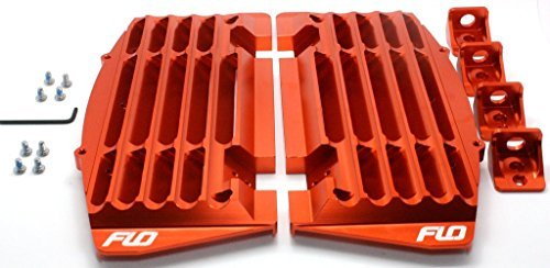Flo Motorsports Orange 2016-2017 Radiator Guard/brace/shrouds Ktm/husqvarna/husaberg (Orange) (Radiator Guards Ktm)