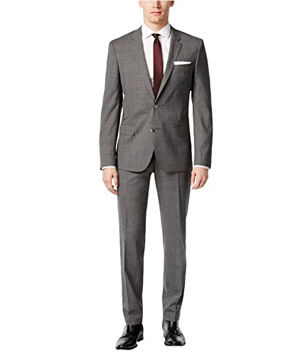Hugo Boss Mens Slim Fit Two Button Suit Grey 42x32 Hugo Boss Two Button Suit