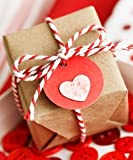 100m Red & White - Xmas - Candy Cane - Christmas - Craft - Bakers - Butchers - Gift wrapping - String - Twin