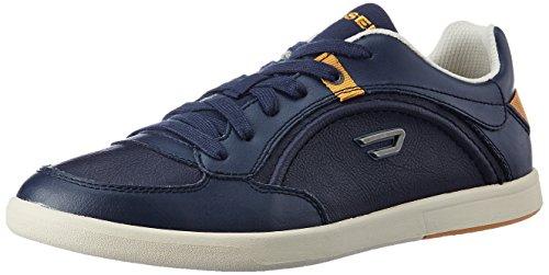 Diesel Schuhe Sneaker Herren Leder Schnürsenkel Eastcop Starch Blaue Nights Marine