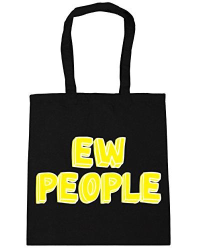 HippoWarehouse personas EW TOTE compras bolsa de playa 42cm x38cm, 10litros negro