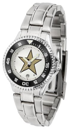 SunTime Vanderbilt Commodores Competitor Ladies Watch with Steel Band