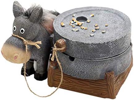 灰皿 , ウール装飾樹脂製灰皿を使用した灰皿の個性の創造的傾向、あなたの父親のボーイフレンドに贈り物を送る (色 : B)
