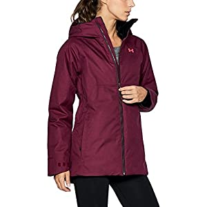 Under Armour Women's ColdGear Infrared Snowcrest Jacket, Black Currant/Black, X-Small