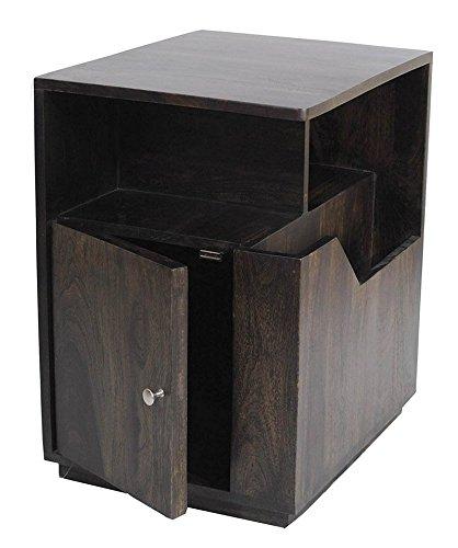 Daintree Astro Solid Wood Side Table Dark Walnut Finish Amazonin