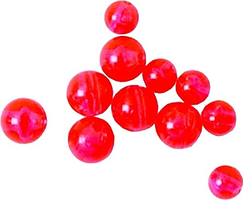 (Eagle Claw A8BEAD20R Plastic Beads, 8 mm, Red, 20)