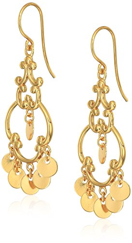 Polished Sterling Yellow Gold Plated Sterling Silver French Wire Drop  (Gold Plated French Wire Settings)