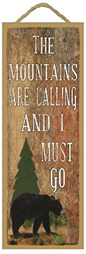 Rocky Mountain Cabin Decor - The Mountains Are Calling and I Must Go Black Bear 15