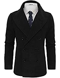 "<span class=""a-offscreen"">[Sponsored]</span>Men's Stylish Wool Blend Double Breasted Pea Coat"