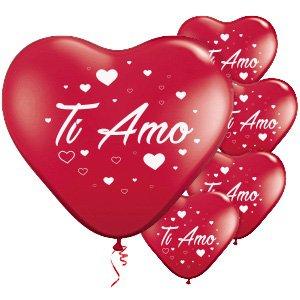 ocballoons Palloncini a Forma di Cuore Rosso Ti Amo San Valentino Festa  Evento Cerimonia Decorazione allestimento