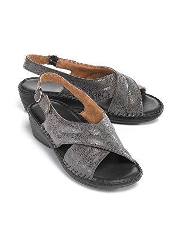Avena Damen Supersoft-Sandalette Rundum Weich Grau