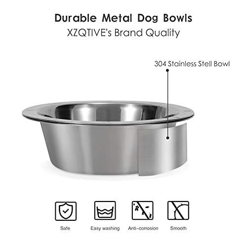 2 Pack Slow Feeder Dog Bowl and Basic Bowl for Dog Slow Eating Interactive Stainless Steel Dog Dishes
