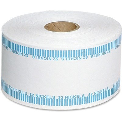 - Automatic Coin Flat Wrapper Rolls, Nickels, 2, 1900 Wrappers/Roll
