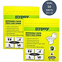 Gypsy Easy To Use Hygienic, Flushable and Disposable Paper Toilet Seat Covers (Set of 2 Packs)
