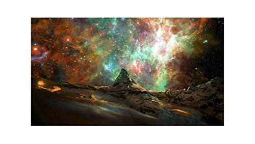 5D DIY Full Circular Diamond Painting Nebula Sky Diamond Rhinestone Embroidery Cross Stitch Home Decor Gift Crafts,Blue,90120cm (Particle Board Nebula)