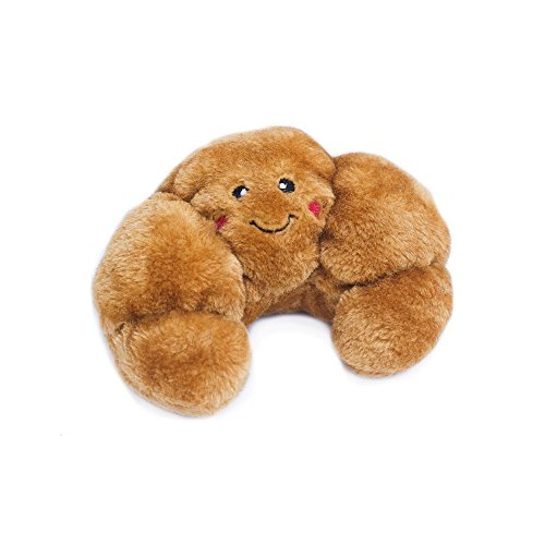 ZippyPaws - NomNomz Plush Squeaker Dog Toy For The Foodie Pup - Croissant