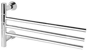 VELMA - S8003 - Exclusivo toallero giratorio de triple barra con un diseño exclusivo - Cromado de alto brillo - 100% inoxidable - ¡Calidad superior!