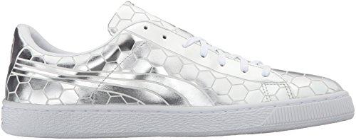 Cesto Da Uomo Puma Classic Metallizzato Moda Sneaker Argento