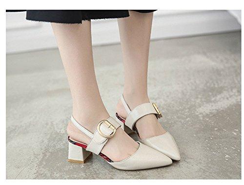 Verano Baotou con Sandalias Frescos Mujer Tacones de Mujer de Zapatos de 1Color Sandalias con Hadas yalanshop fqBFxv
