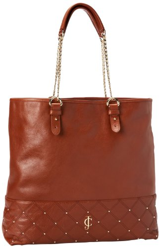 Juicy Couture Frankie Leather Anja Tote, Cognac