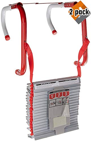 Kidde 468094 Three-Story Fire Escape Ladder with Anti-Slip Rungs, 25-Foot - 2 Pack